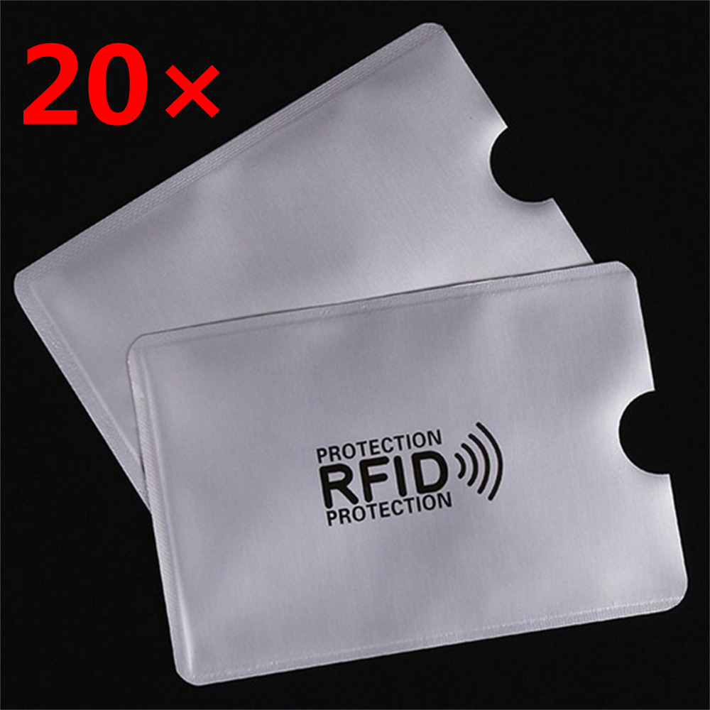 20PCS RFID Security Card Cover Anti-magnetic Security Protection 13.56mhz IC Card NFC Payment ID Card And Other Expensive Cards
