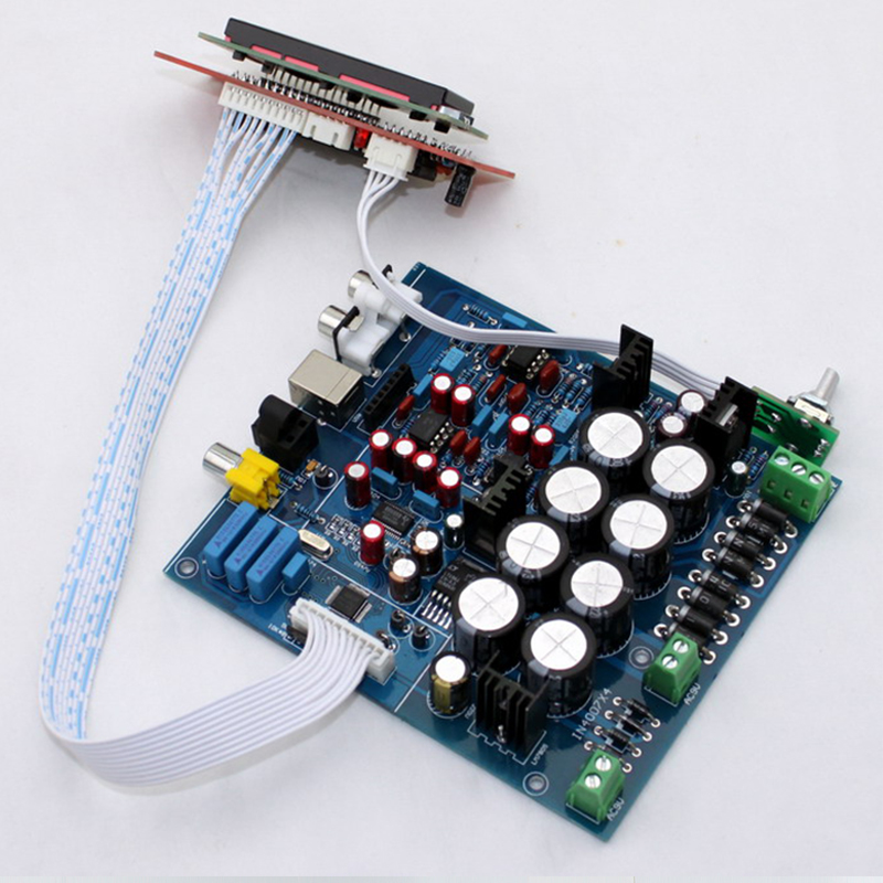 PCM1794 AK4118 AD827 USB DAC Decoding Control Board audio amplifier Board (Excluding USB Daughter Card) цена