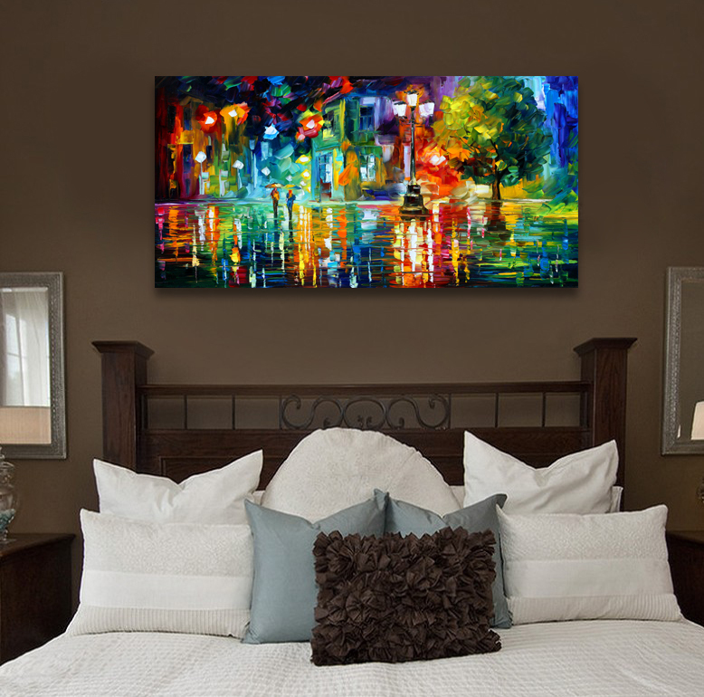 Abstract landscape print painting canvas wall pictures for living ...