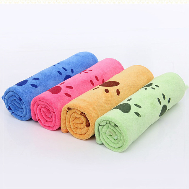 Photo : Serviettes éponges mulicouleur pour chien mulicouleur
