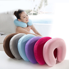 7 Color Sale 1PC Memory Foam Neck Pillow Resting Head U Shape Soft Travel for Business Office Train Rest