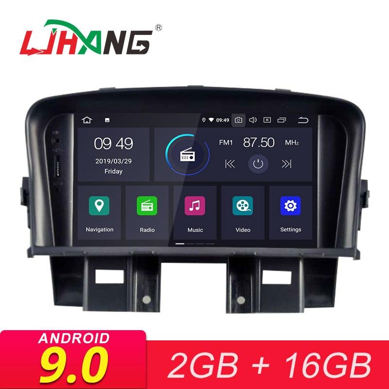 LJHANG 2 Din Android 9.0 autoradio pour CHEVROLET CRUZE 2008 2009 2010 2011 Navigation GPS lecteur multimédia WIFI Audio stéréo FM