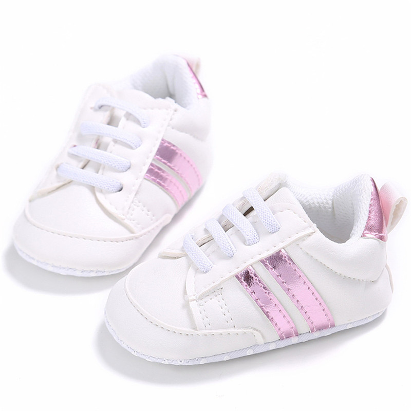Casual Newborn Infant Lace Up Sneaker First Walkers Kids Children Baby Boy Girl Crib Soft Sole Shoes