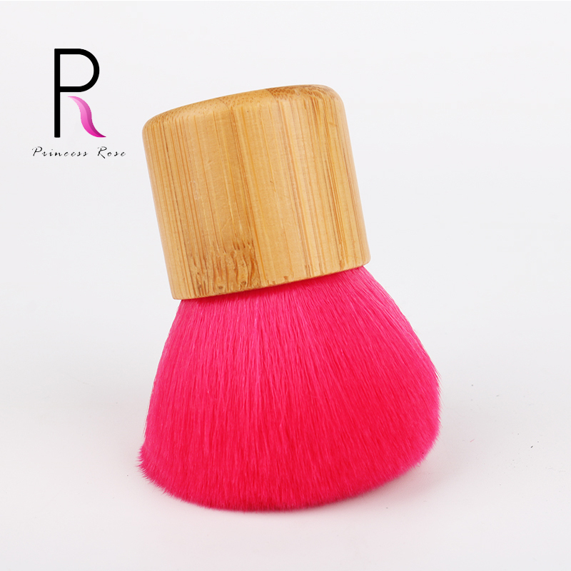 Princess Rose Professional Bamboo Handle Makeup Brushes Make Up Kabuki Brush Foundation Blush Powder Brush Red Pincel Pinceaux professional makeup brush flat top brush foundation powder beauty cosmetic make up brushes tool wooden kabuki