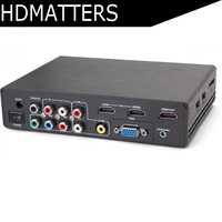 All to HDMI 4K converter Scaler Switcher RCA(CVBS)/YPbPr/VGA/HDMI to HDMI 4K scaler converter box