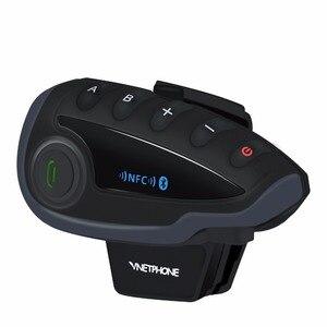 Image 3 - V8 BT Bluetooth del Casco Del Motociclo Citofono 1200M per 5 Piloti Interphone Auricolare A Distanza di Controllo FM radio