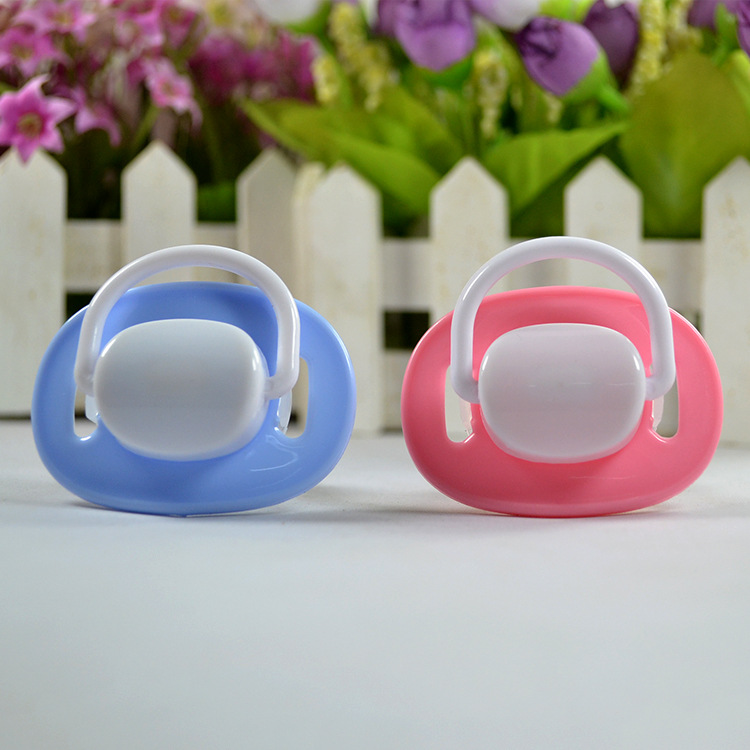 Buy Lovely Oval Shape Baby Pacifier Baby Toy Dummy Fun Bite Gags Teether Soother Nipples chupeta, chupetas para bebe