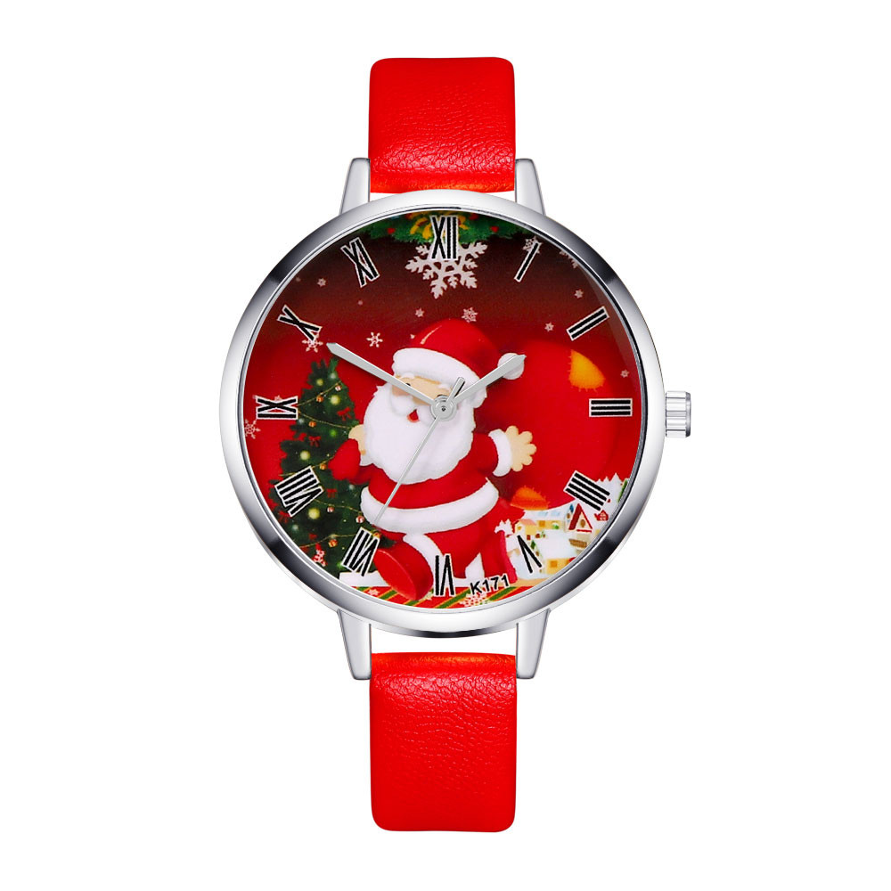 Christmas Women Watches Luxury Fashion Ladies Quartz Leather Wrist Watch Christmas Children Gifts Clocks Mujer Relogio Feminino