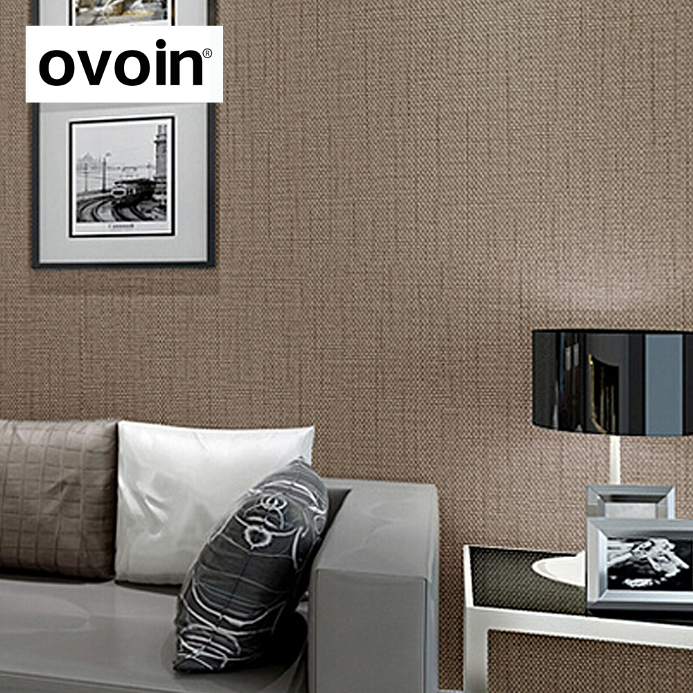 Faux Grasscloth Modern Wallpaper Simple Texture Wall Paper