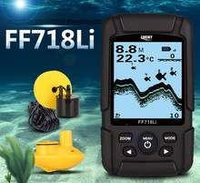 Lucky FF718Li Hot Sale Alarm 100M Portable Sonar LCD Fish Finders Fishing lure Echo Sounder 2 Sensor Fishing Finder Wireless