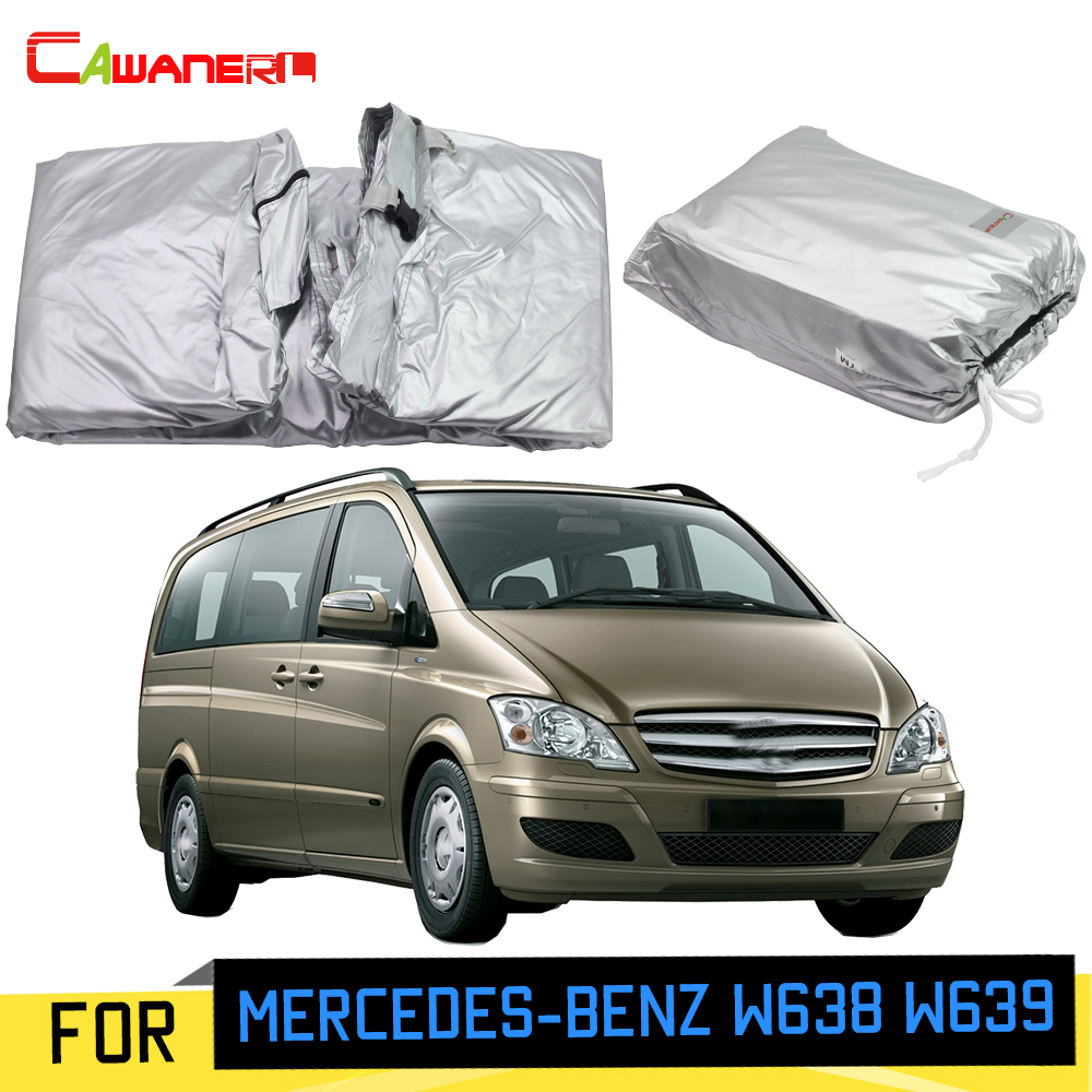 Cawanerl Car Cover MPV Outdoor Anti-UV Sun Shade Rain Snow Scratch Protection Windproof Cover For Mercedes-Benz W638 W639 image