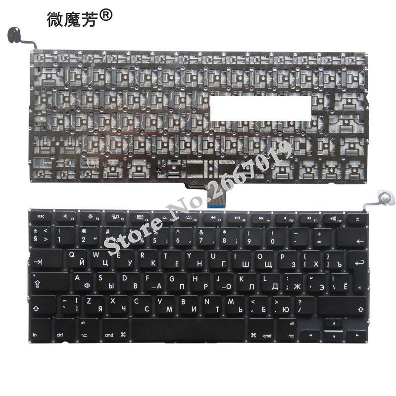RU Black New Russian For Apple A1278 A1322 MB990 MC374 MC724 MD102 MB991 MC375 Laptop KeyboardRU Black New Russian For Apple A1278 A1322 MB990 MC374 MC724 MD102 MB991 MC375 Laptop Keyboard