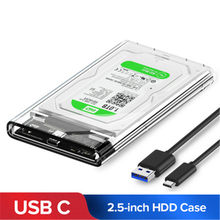 "2.5"" USB 3.0 SATA Hd Box HDD Hard Disk Drive External HDD Enclosure Transparent Case Tool Free 5 Gbps Support 2TB UASP Protocol(China)"