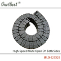 JFLO 1 Meter 25x25mm Drag Chain High-Speed Mute Open On Outside Type Engineering Towline Wire Carrier Cable Tanks Chain