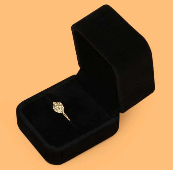 Display Box For Ring Earring Necklace Jewelry Set Velvet Case High Quality Box02 Box Wholesale Moonso