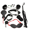 8 Sets Of Taste BDSM Bondage Set Leather Sex Products Restraint Bdsm Bondage Handcuffs  Restraints Kits Sex Toys For Couples-147