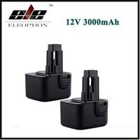 2x CE High Capacity 3000mAh 12V Battery For Dewalt DW9071 DW9072 DC9071 DE9037 DE9071 DE9072 DE9074