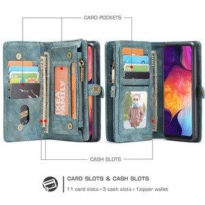 Image 2 - Para samsung galaxy a20 a30 a50 caso luxo genuíno flip carteira capa de couro caso de volta do telefone móvel para samsung a40 a70 a50