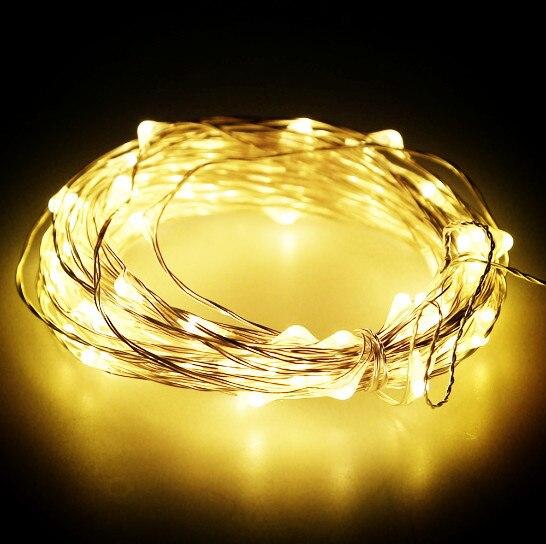 50 pcs * 10 M 100 led Alimentado Por Bateria 3AA Decorativa LED Fio de Cobre Luzes Cordas de Fadas para o Natal de Casamento partes