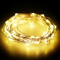 50pcs 10M 100 Led 3AA Battery Powered Decorative LED Copper Wire Fairy String Lights For Christmas