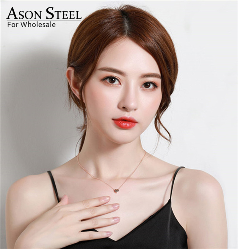 45cm Top 316L Stainless Steel Heart Moon Star CrossPendant Long Link Chains Necklaces Set Gold For Women Choker Necklace Jewelry 3