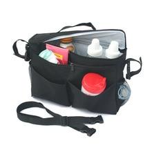 Black Baby Strollers Organizador Thermal Bag Baby Carriage Prams Cooler Bag Shoulder Mummy Bolsa
