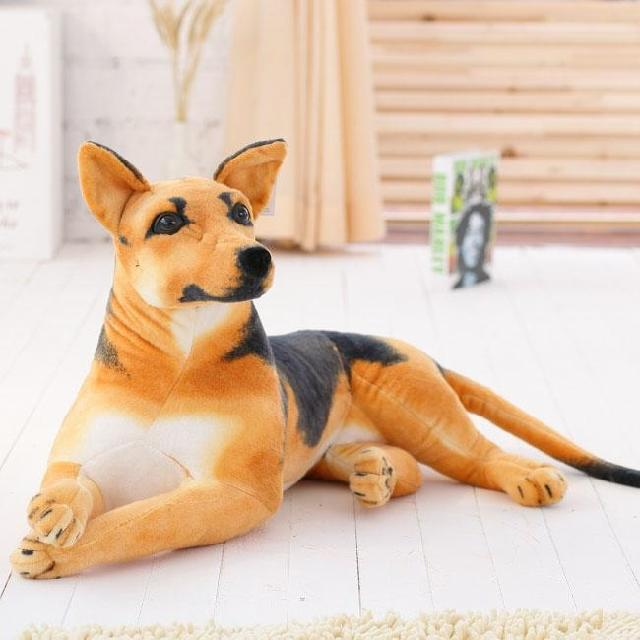 Simulazione Animale Incline Cane Da Pastore Tedesco Wolfhound