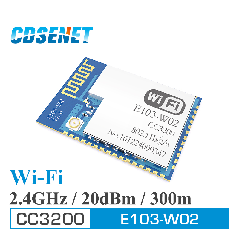 CC3200 2.4GHz Wifi Module CDSENET E103-W02 SMD rf Transceiver <font><b>2.4</b></font> <font><b>ghz</b></font> Wifi <font><b>Transmitter</b></font> Receiver For PCB Antenna image