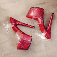 Leecabe sexy stiletto PVC upper high heel pink plating platform jelly shoe  sexy lady pole dancing sandals ladies shoes 79b635b47cc4