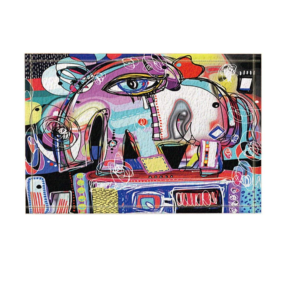 Us 16 8 30 Off Wall Art Graffiti Decor Abstract Digital Painting Elephant Bath Rugs Non Slip Funny Indoor Outdoor Doormat In Mat From Home