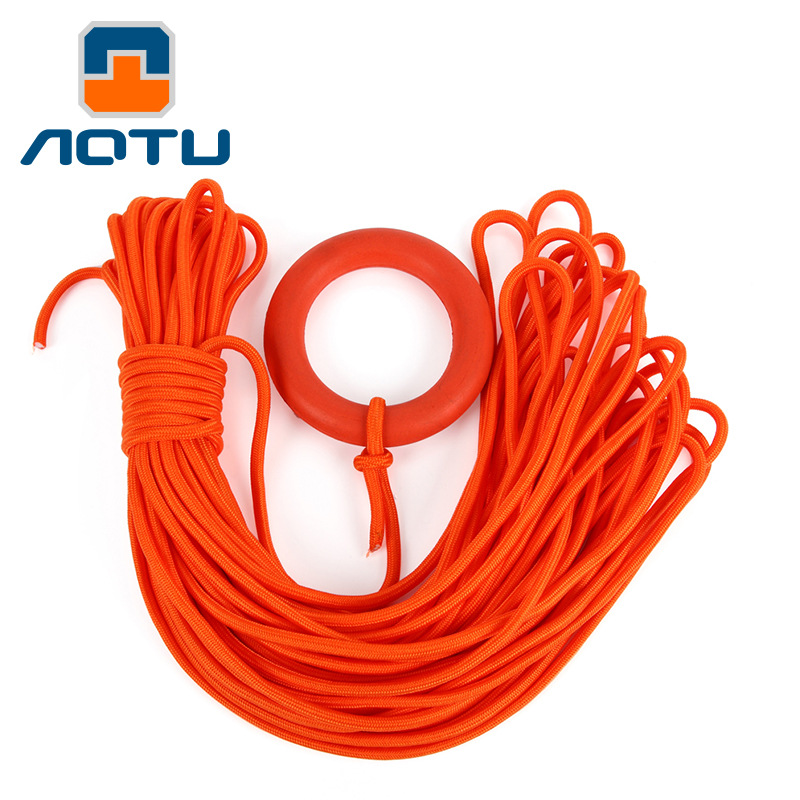 30m Orange Outdoor Emergency Life Saving Rope With Floating Ring Water Rescue Rope Snorkeling