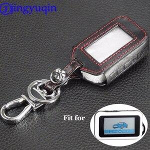 Image 1 - Jingyuqin 4 botões de couro remoto caso chave capa para starline e60 e61 e62 e90 e91 2 vias sistema alarme do carro remoto