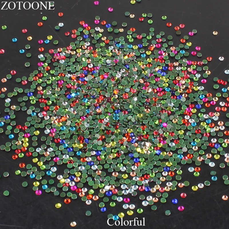 Zotoone Ferro su Strass di Cristallo Applique Hot-Fix Posteriore Piana per Le Unghie Art Fai da Te Strass in Resina Pietre Rosa per abbigliamento Decor G