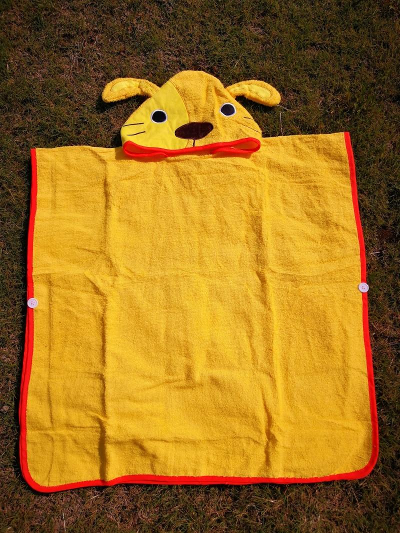 3 цвета, детский пляжный Халат с капюшоном с изображением слона, монстра и щенка из мультфильма