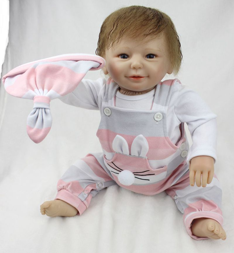 Pursue 22/55 cm Lovely Fashion Dolls Silicone Reborn Dolls Babies Educational Doll Toys for Children Girl Boy Birthday Gift Toy handmade chinese ancient doll tang beauty princess pingyang 1 6 bjd dolls 12 jointed doll toy for girl christmas gift brinquedo