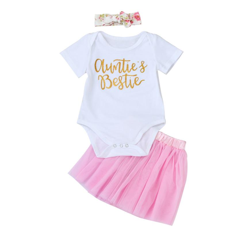 Mother & Kids Aspiring Chamsgend Fashion Newborn Baby Girls Letter Romper Girl Jumpsuit Powder Skirt Head 3pcs Set Suit Outfits Clothes Ma29m25 Packing Of Nominated Brand