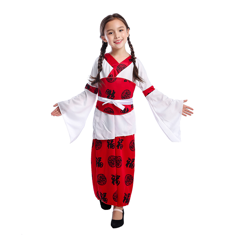 Traditional Children Chinese Princess Oriental Girls Costume Perfect For Fancy-Dress Birthday Parties Shows Or Carnival