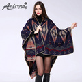 [AETRENDS] 2016 New Winter Women Poncho Cashmere Cape with Geometric Printed Ladies Scarves Z-3161