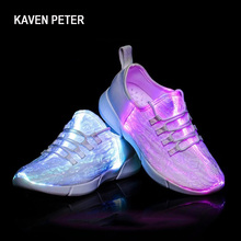 LED fiber optic shoes for boys running shoes women luminous sneakers led glowing sneakers girls man light shoes kids size 26-43 boys and girl led luminous sneakers casual shoes led shoes wings kids glowing sneakers led luminous shoes usb kids 506034