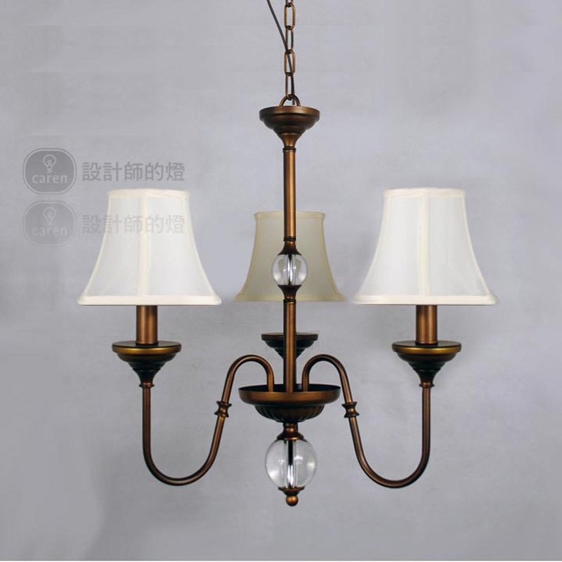 European Rural Restaurant StylePendant Lamp Bedroom Bar Wrought Iron Three Lamp Holder Pendant Light Contain Bulb Free Shipping