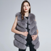 Women's Winter Natural Fox Fur Jacket Women's Fur Coat Leather Hair Clips Hot Discount 2018 New Warmth H6X 65C