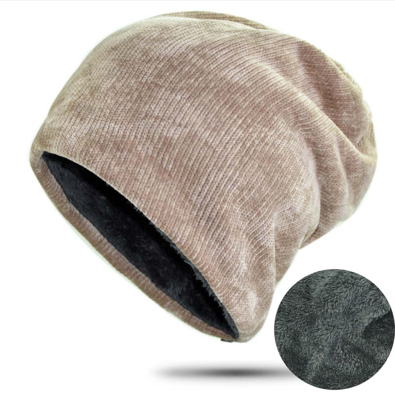 Hat men's double thick warm caps women's patch rock pile hat ear protector cap(China)