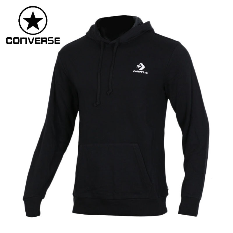 Original New Arrival 2018 Converse Star Chevron Emb PO Hoodie Men's Pullover Hoodies Sportswear kangaroo pocket star embroidered drawstring pullover hoodie