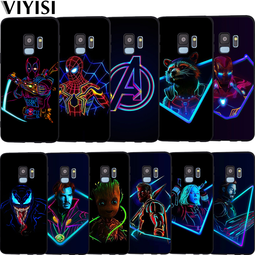 Luxus Marvel Avengers Helden Deadpool Fall Etui Für <font><b>Samsung</b></font> <font><b>Galaxy</b></font> s9 fall S6 S7 S8 S10 Lite J3 J5 J7 2017 J4 <font><b>J6</b></font> J8 Plus <font><b>Coque</b></font> image