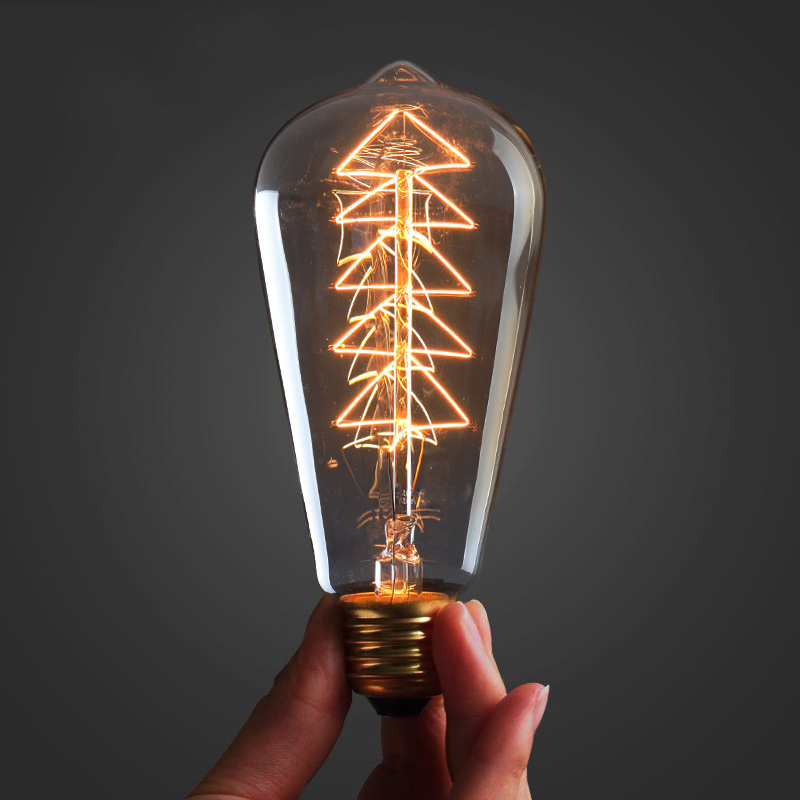 Hot Sale Vintage Edison Bulb Light Lamp AC 220V E27 Vintage Incandescent  Lamp Light Antique Vintage