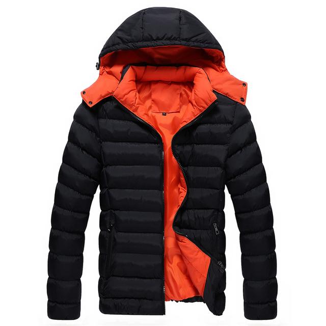 Homens parka inverno Para Baixo Casaco sólida hiah qualidade clássico simples moda casual de algodão jaqueta gola Magro parkas hombre