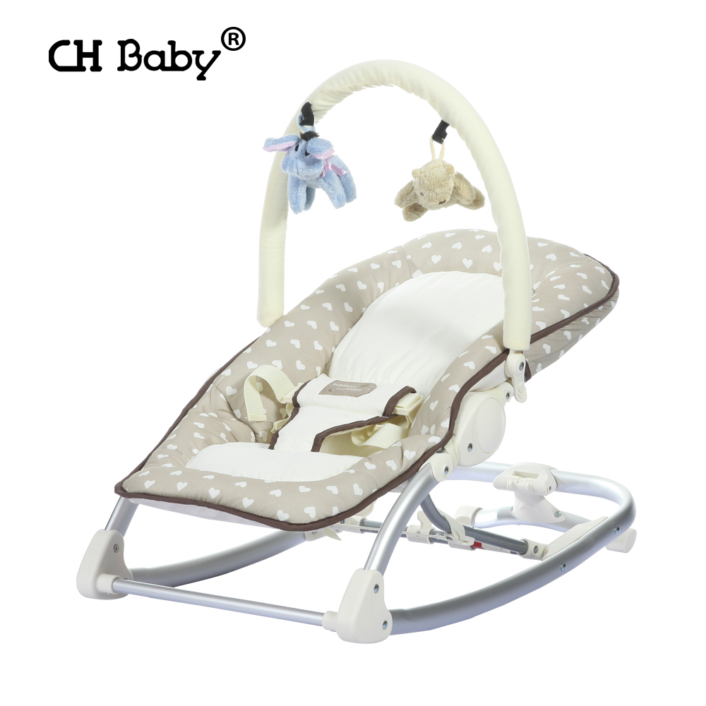 Soft Leather Multifunctional Baby Rocking Chair Baby Chair Jumpers Chair Baby