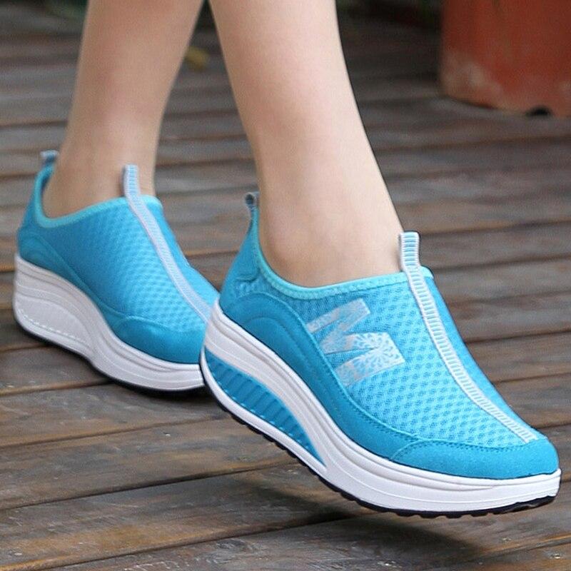 Nueva llegada 2018 verano Zapatos Deportivos mujeres zapatillas red malla mujeres zapatos corrientes zapatos transpirables de gasa