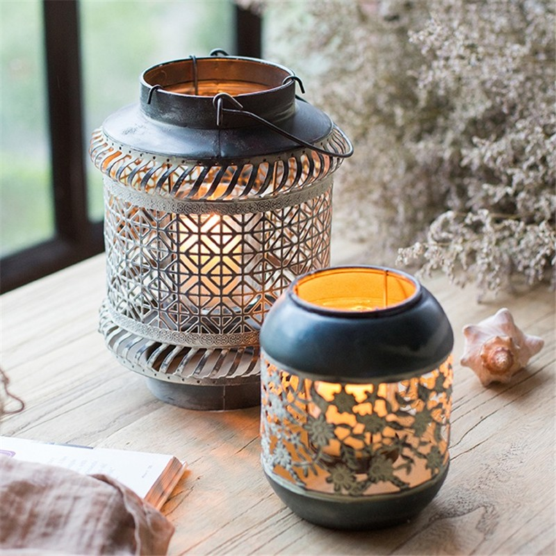 Retro Metal Moroccan Style Candle Holder