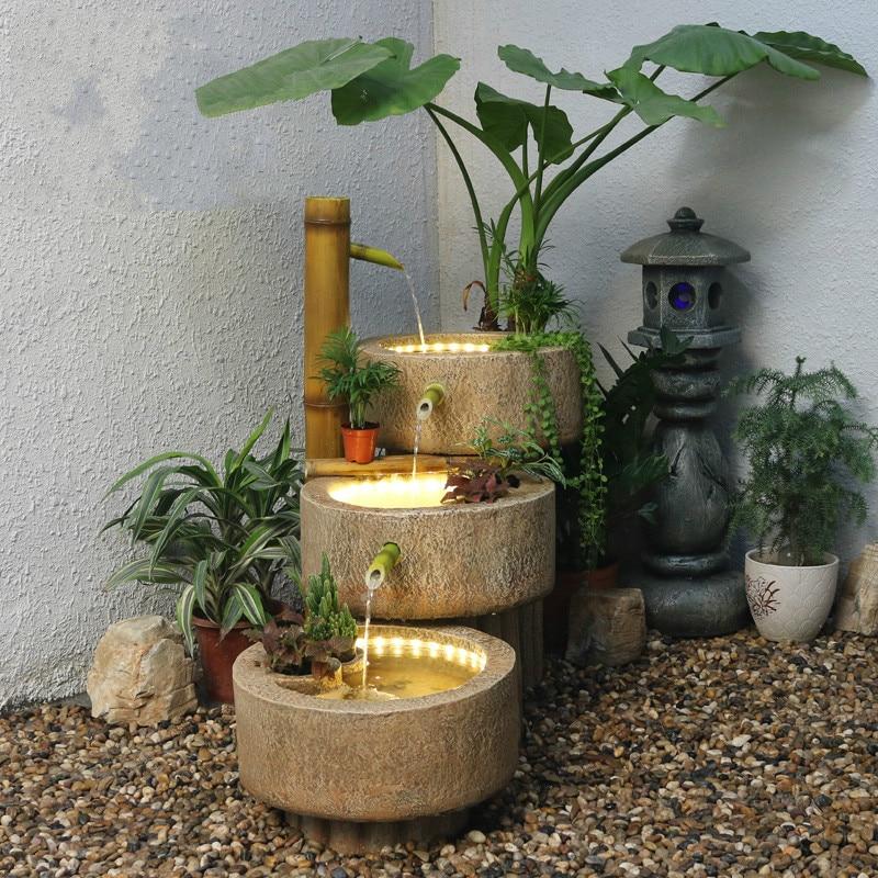 Fountain Landscape Office Decoration Garden Design Fish Tank Water Diy Decorative Ornaments